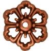 Bead Cap Open Poppy 12mm Antique Copper